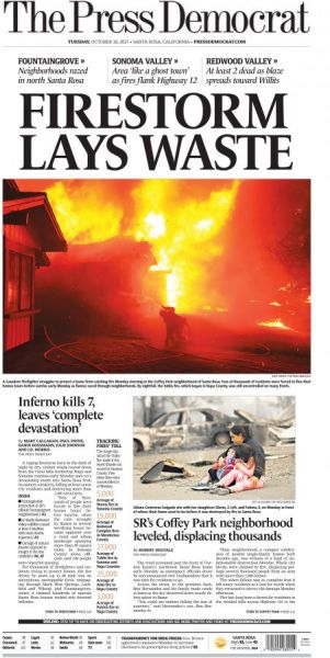 The front page tearsheet of the story that earned the PD staff the Pulitzer Prize.