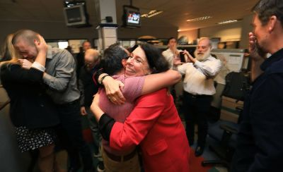 Press Democrat staff members learn they won the Pulitzer Prize for breaking news coverage of the deadly North Bay wildfires (Press Democrat)